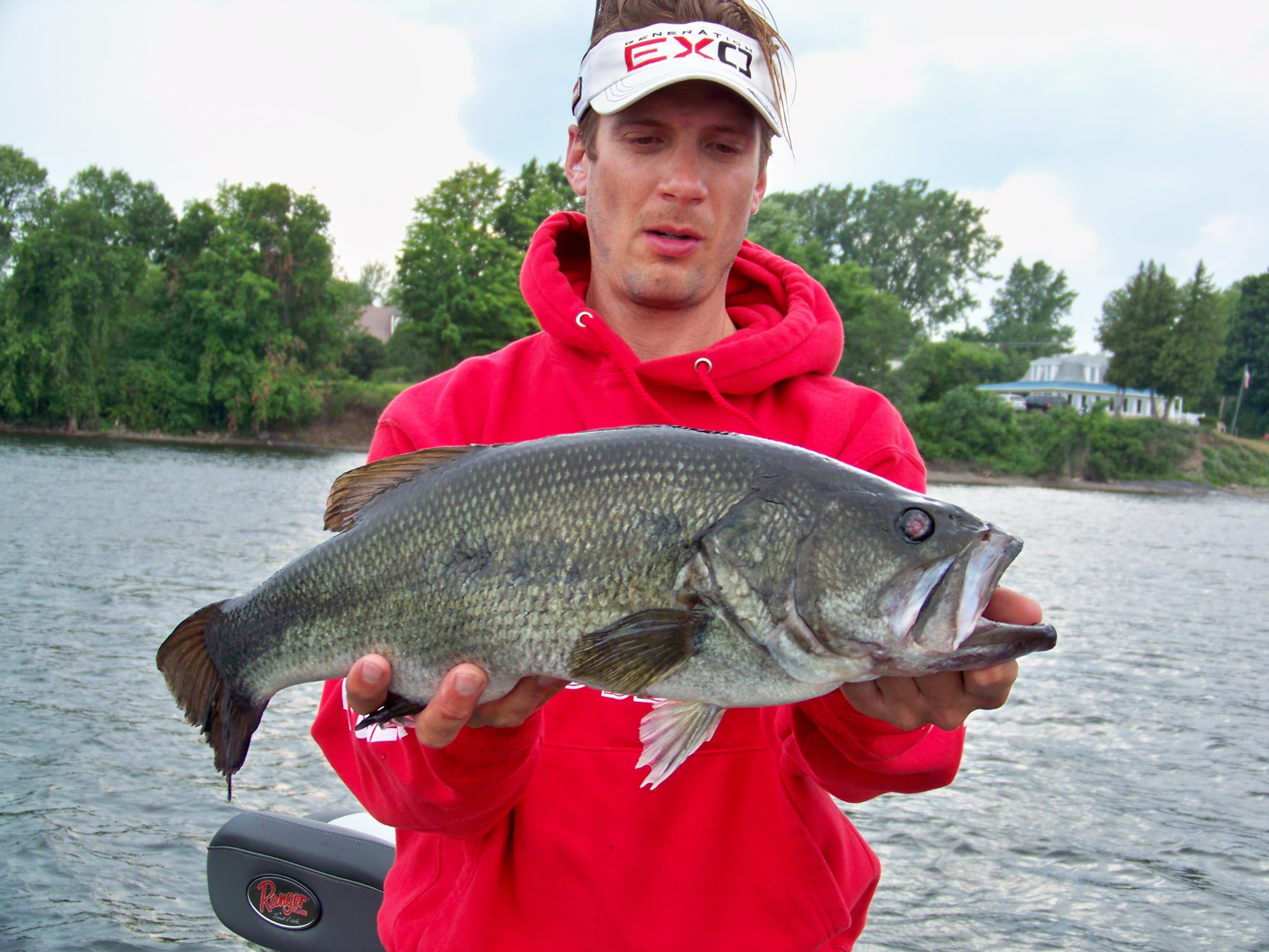 Speaking of largemouth bass, look at this Kicker. Troy has an awesome catch using a jerk bait adjacent a bridge piling. Nice job Troy!