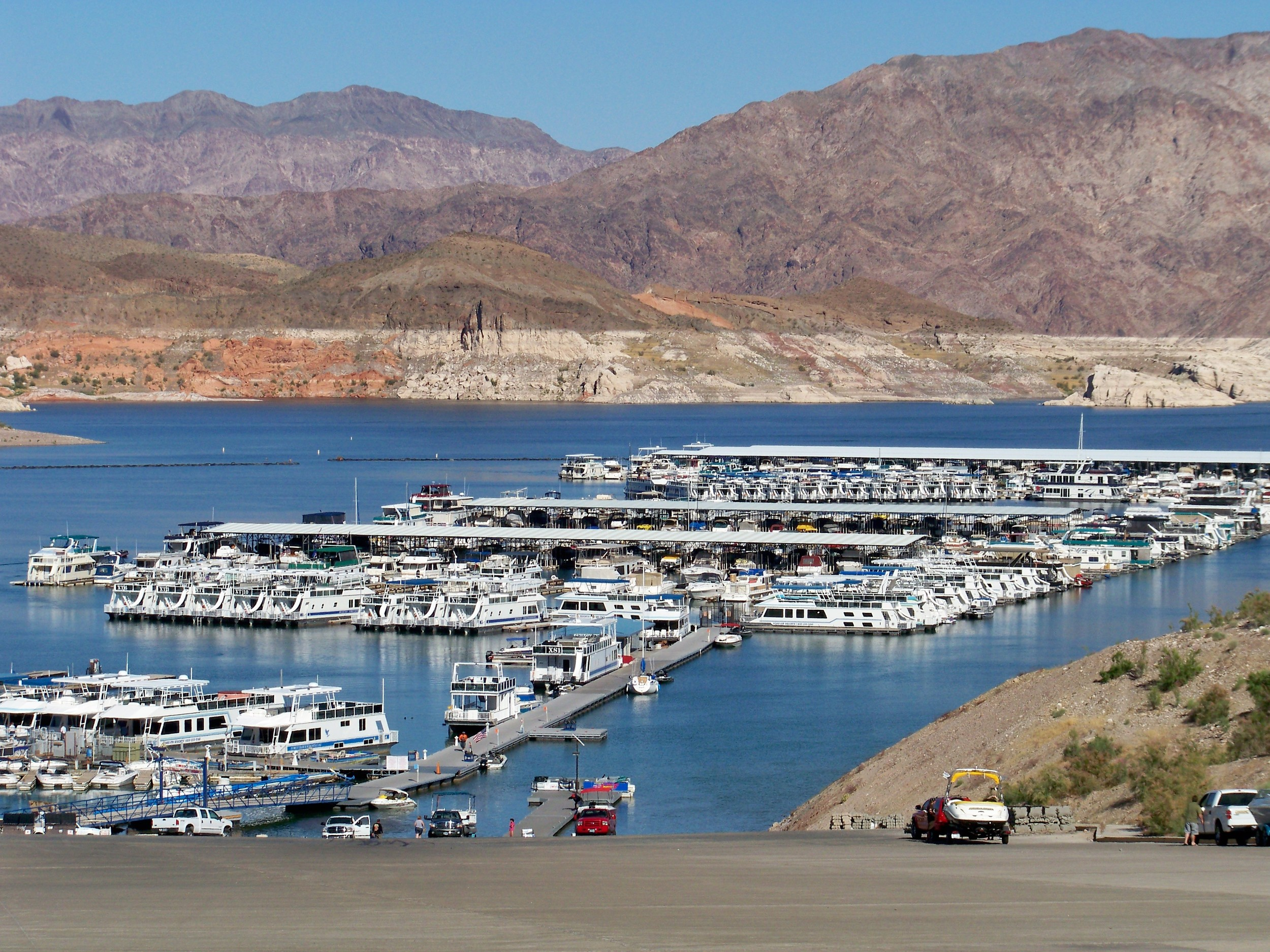 The event launches from Callville Bay NV. That is a long walk up the launch ramp to get the truck and trailer. Ah, the life of a Co-Angler, so blessed!