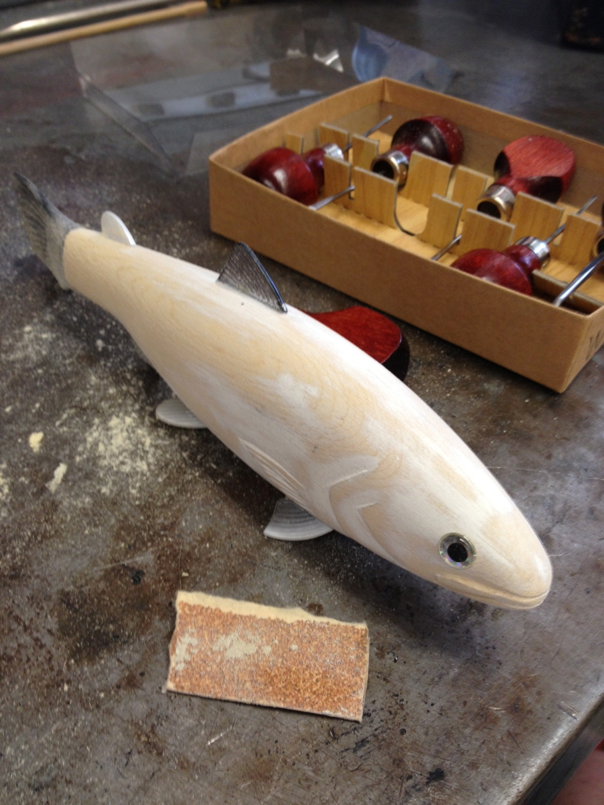 Wanna See A Trout Carved In 15 Seconds? OK, It Took A Little
