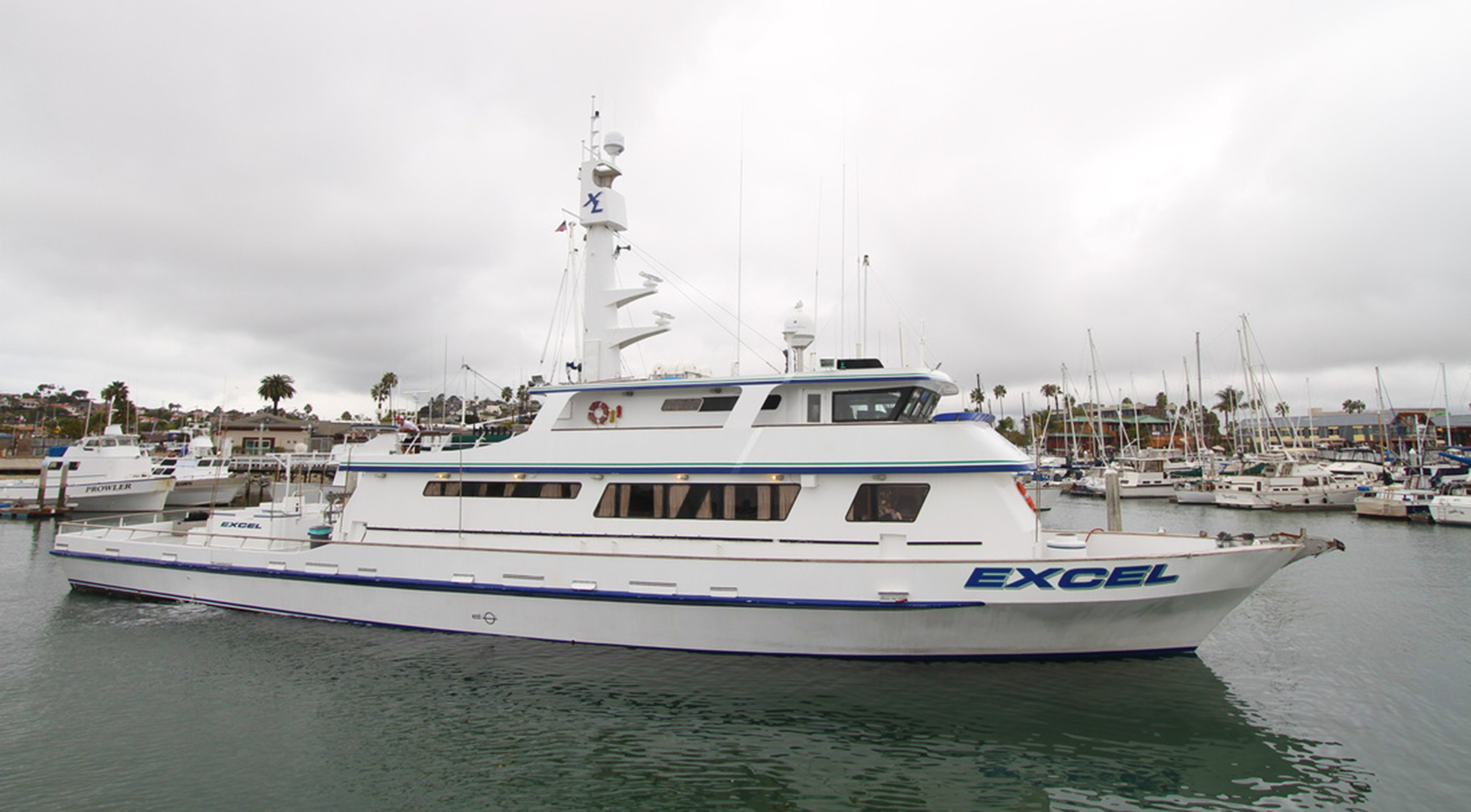The Excel, a luxurious long-range sports fishing vessel based out of Fisherman's Landing San Diego, California     www.Excelsportfishing.com   , photo credit skimmeroutdoors.com