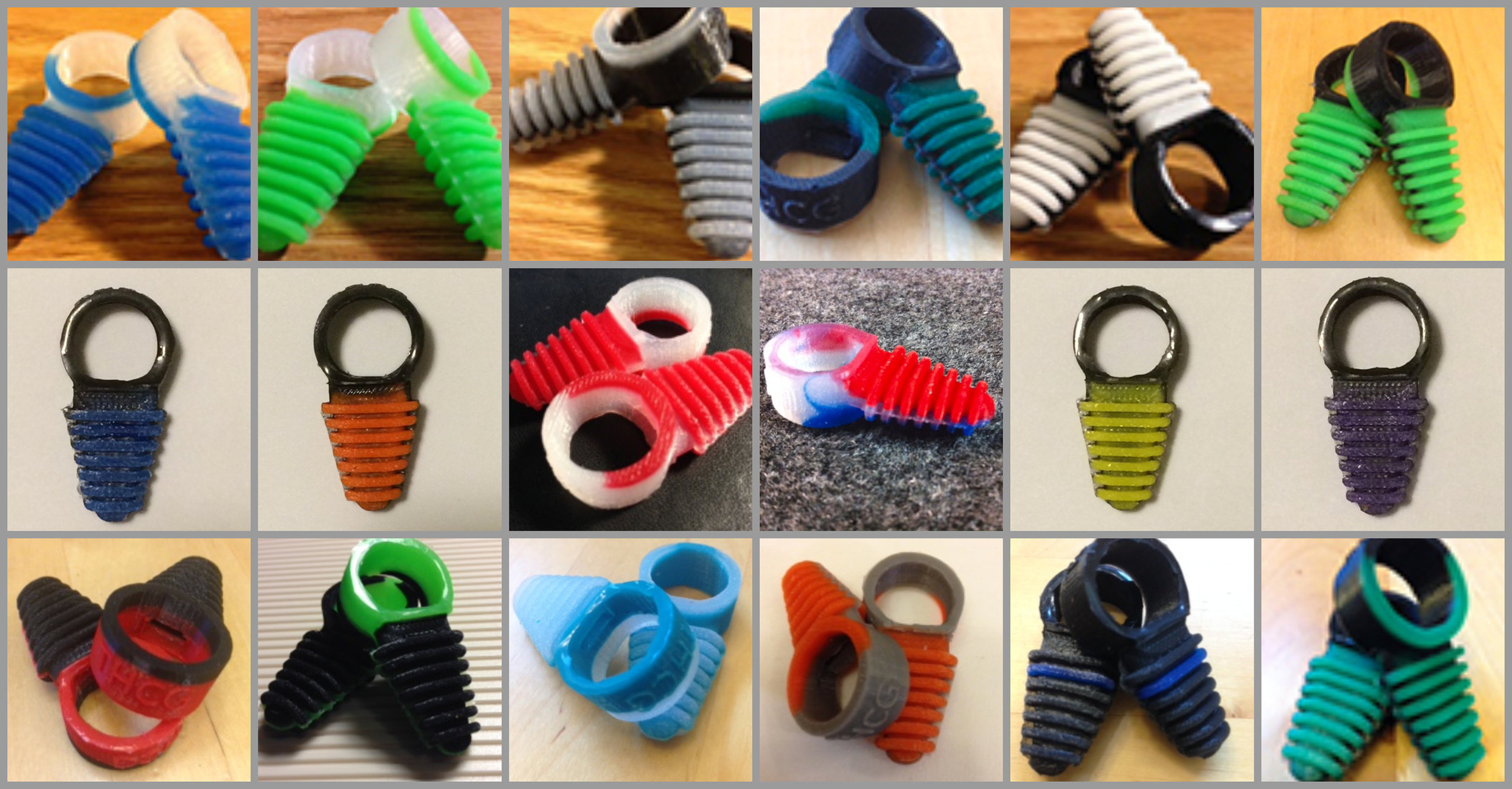 Banded Ribbed Trigger Grips are available in multiple color combinations that will match your equipment. Two per package $5.99 at Tackle Warehouse. More colors are available at the Trigger Happy Comfort Grips website; the link is below.