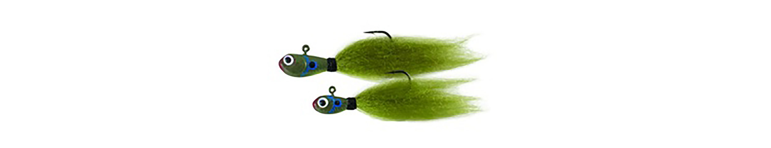 "The SPRO Phat Fly bluegill pattern, a multi-species hair jig, available in multiple colors and two sizes – 1/8th and 1/16th ounce. 1/8th ounce, 2.25"" length with a #1 size hook. 1/16th ounce, 2"" length with a #2 size hook."