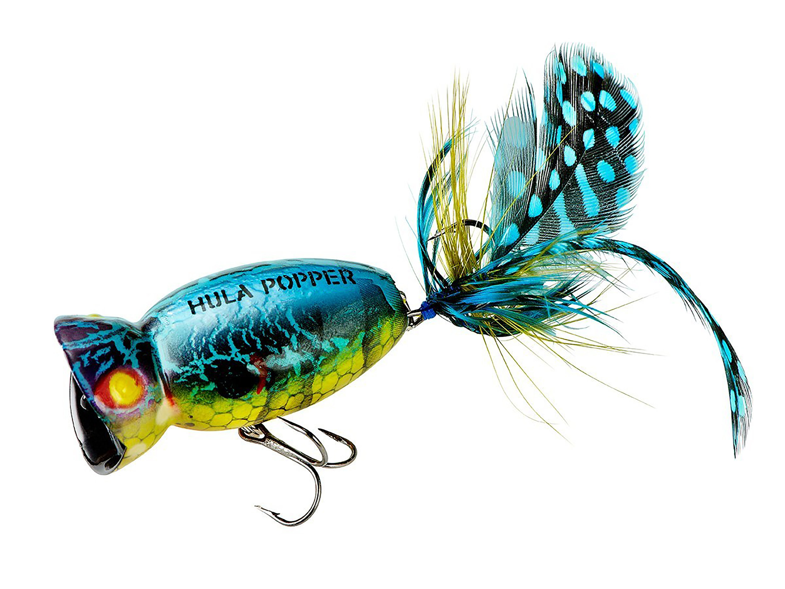 Booth 4831. Hula Popper 2.0. Based on the classic shape as the original 1948 model, the Hula Popper 2.0 leads the fleet of Arbogast baits into the future. The bait features all new colors, hardware and feathers.