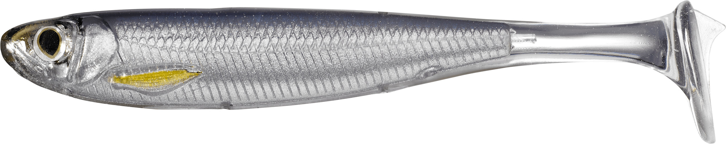 Booth 2508. Ideal for freshwater and saltwater, LIVETARGET's Slow-Roll Shiner is an unrigged swimbait that mimics a fleeing thin-profiled baitfish and features Injected Core Technology™ (ICT), offering improved baitfish profile and detail over traditional paddletail swimbaits. Comes in 3 sizes and 6 colors. MSRP: $9.99.