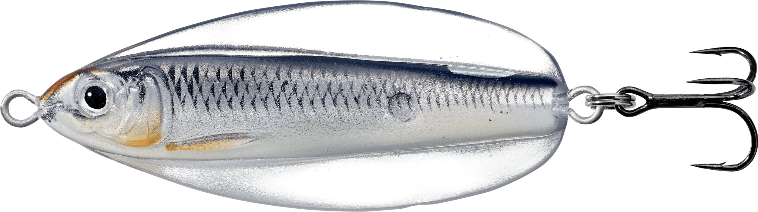 Booth 2508. LIVETARGET's Erratic Shiner behaves like a traditional casting spoon but has the narrow profile of a common shiner or minnow. With Injected Core Technology™ (ICT), the lure has a lifelike Inner-Core that mimics a small fleeing baitfish, while the Exo-Skin gives the lure an erratic wide-wobble action, bringing the Inner-Core to life – comes in 4 weights and 10 colors. MSRP: $9.99.