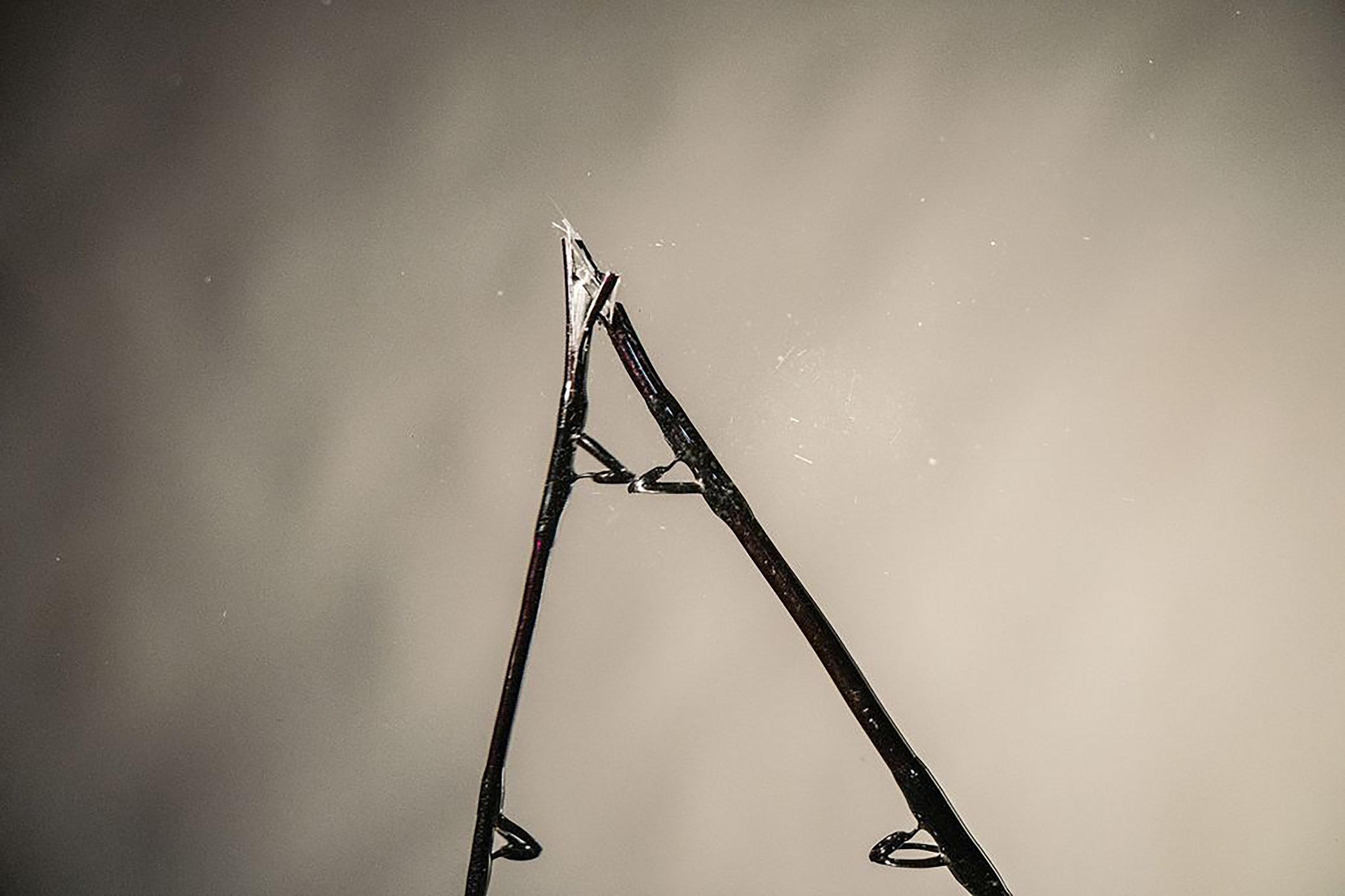 A rod shattered under pressure.  Jon Whittle / Sport Fishing