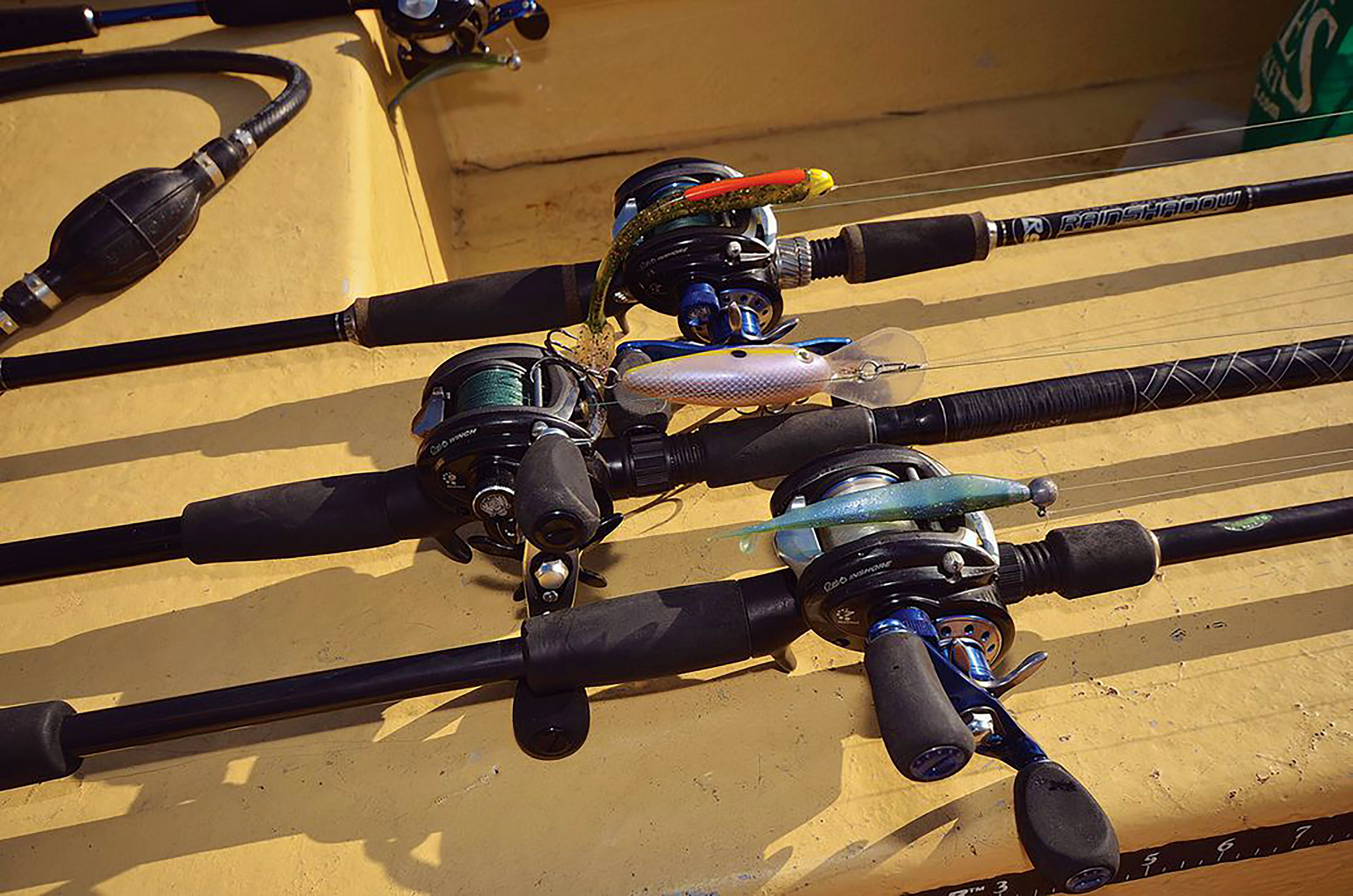 Soft plastics and hard baits serve as the mainstay of serious bass anglers in SoCal. Erik Landesfeind