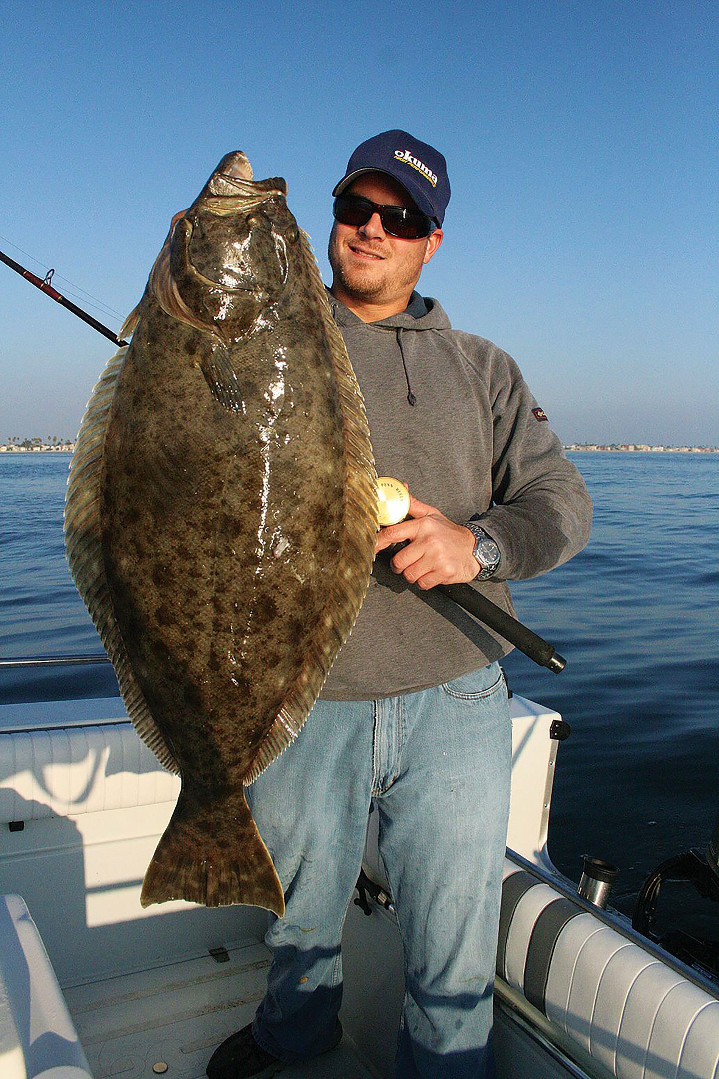 California halibut often hunt the rock-sand interface along stretches of riprap. Jim Hendricks / Sport Fishing