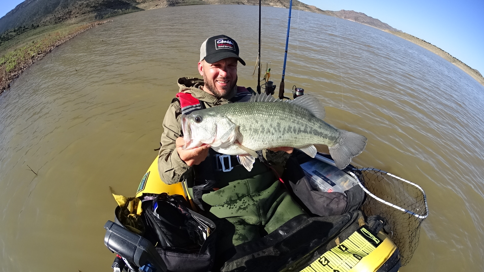 The second trip it took me five hours to get action but stoked I was with this 5.32 lb. bigmouth.
