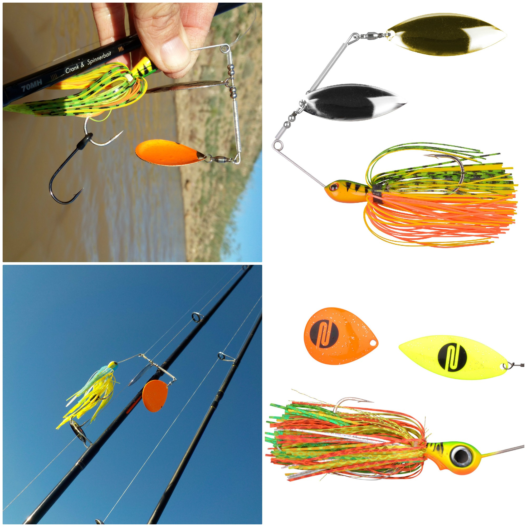 The Iris Ambush spinnerbait from Spro NL comes with an extra blade.