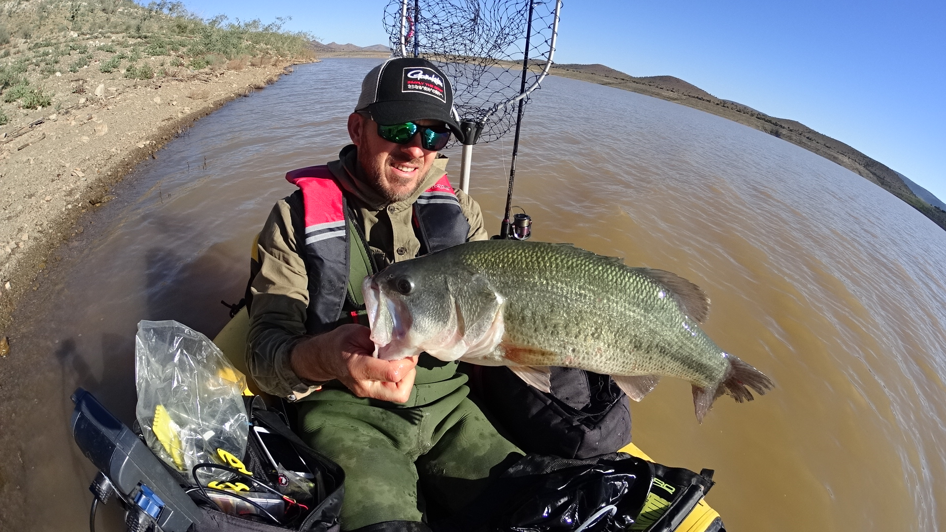 """The next session, I fished the front part of the reservoir; I had to be happy with one bass of 21.25,"""" and she weighed 5.17 lb."""