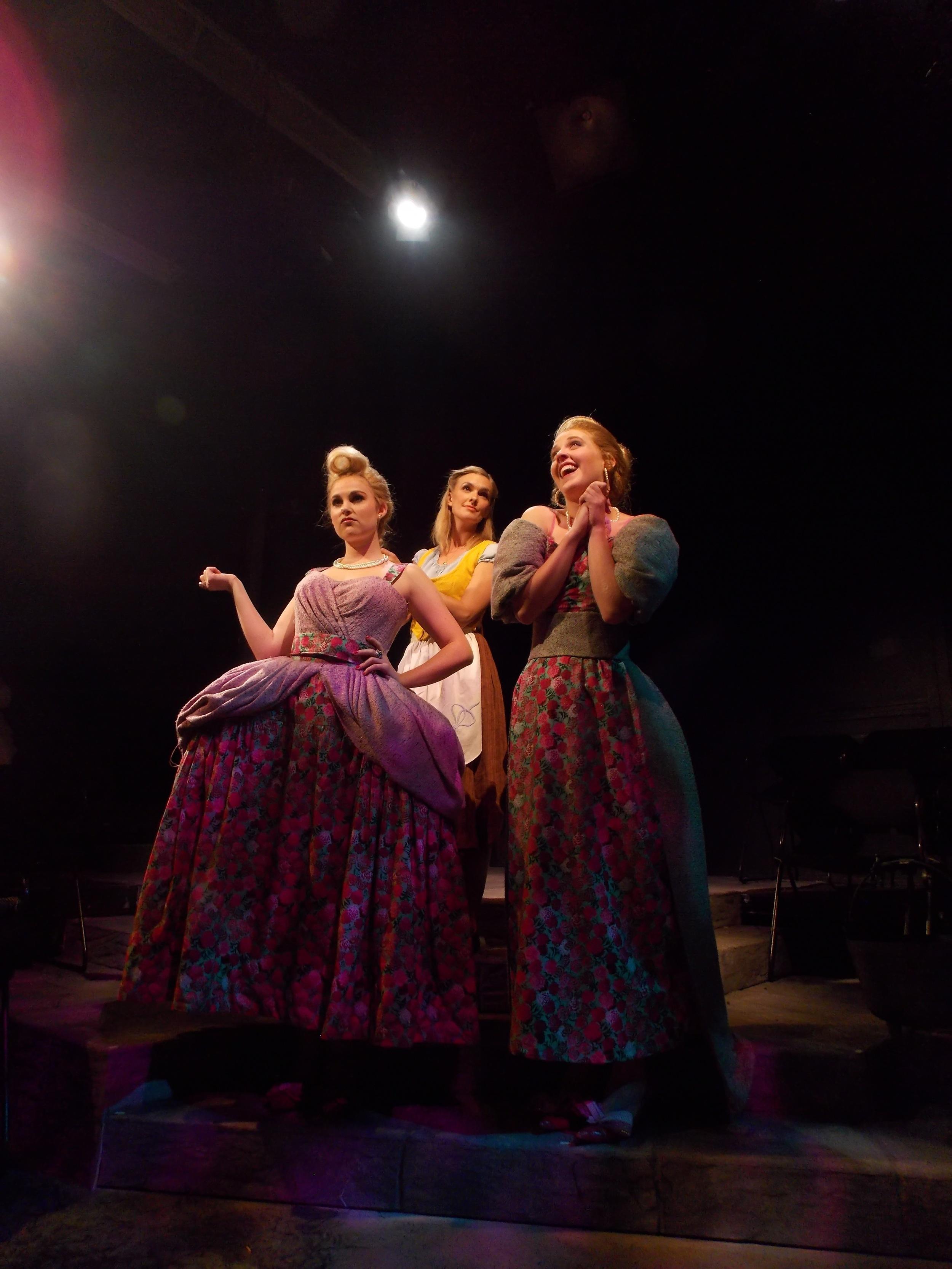 Cinderella (Liv Stevns) and the Stepsisters (Kelli Plaisted & Belle Adams)  Photo courtesy of AJ Paulin.