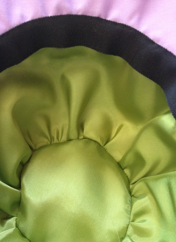 1920s-inspired cloche hat (lining)