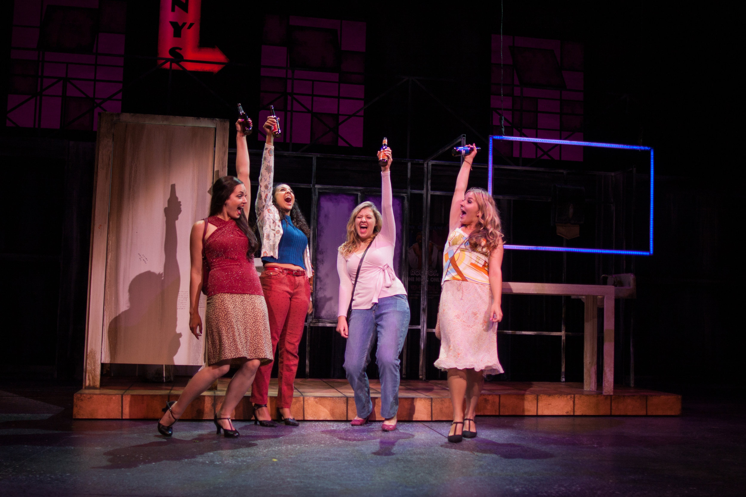 """A Woman's World""  Estelle (Megan Mattix), Joanie (Kaitlyn Taylor), Georgie (Audrey Pennington), & Susan (Emmy Farese)  Photo courtesy of Stephen M. Woo."