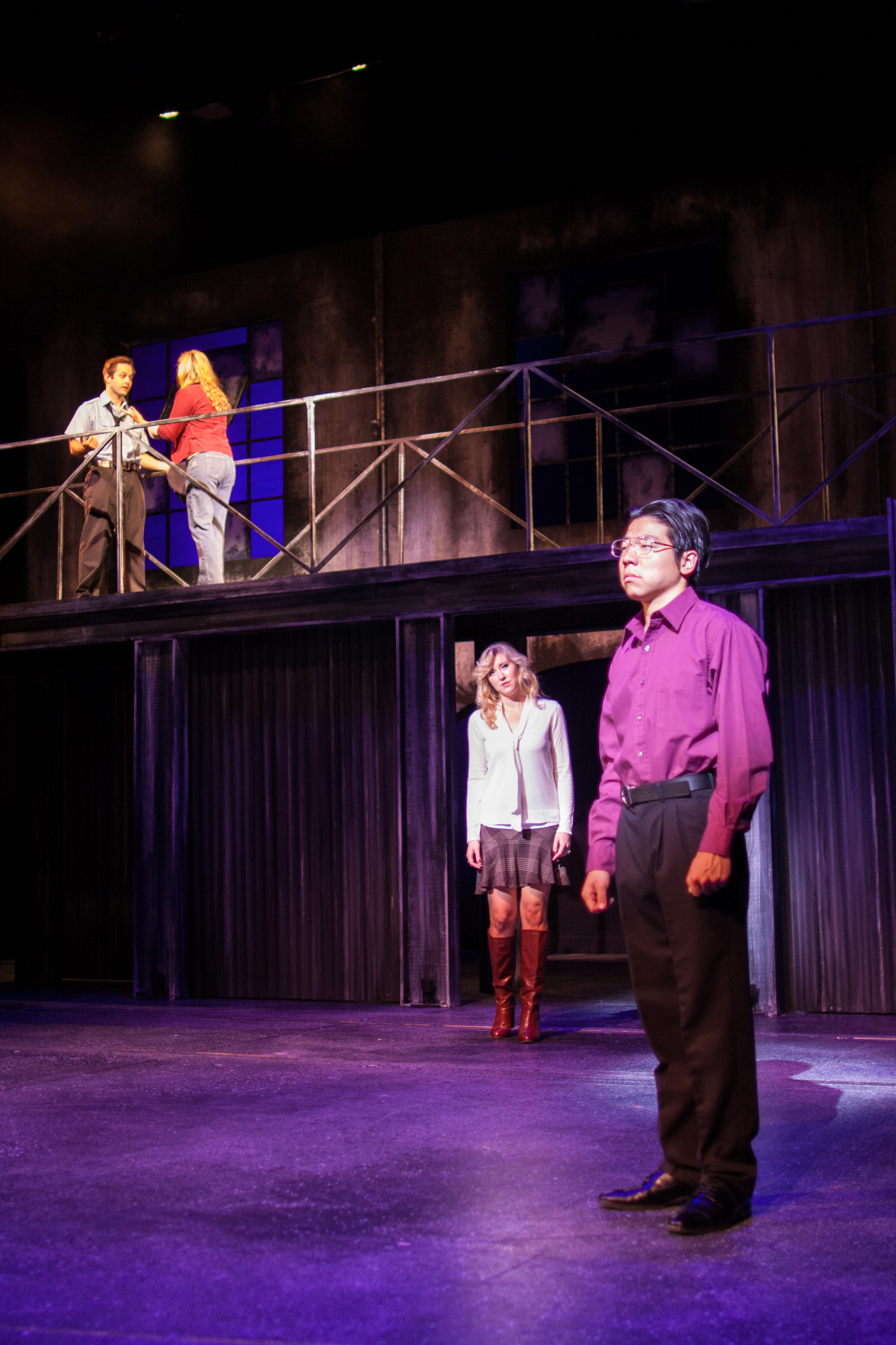 """You Rule My World (Reprise)""  Dave (Jonathan Brugioni), Georgie (Audrey Pennington), Vicki (Kimberly Moller), & Harold (Leo Yu-Ning Chang)  Photo courtesy of Stephen M. Woo."