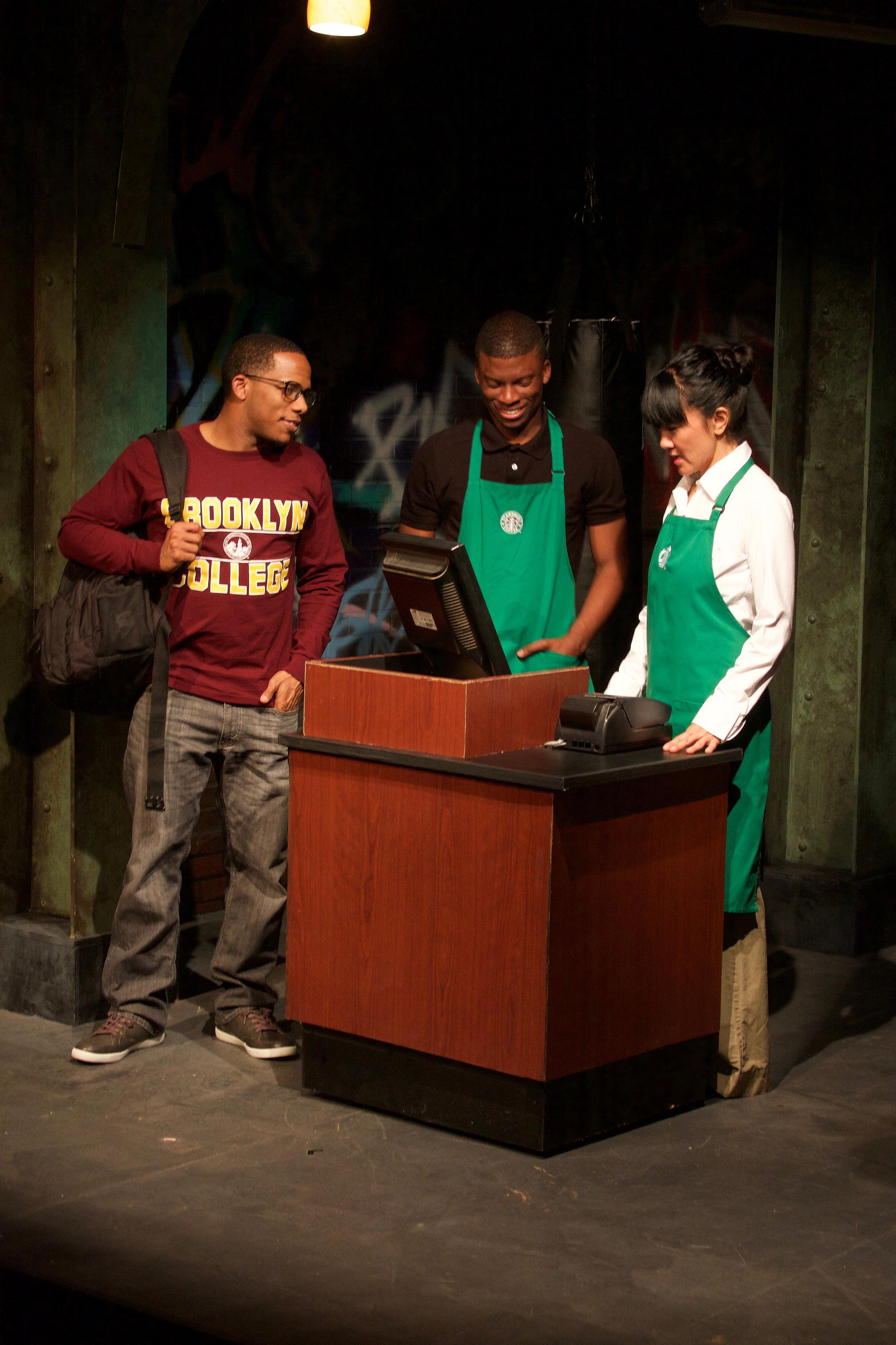 Student (Alex Robinson), Tray (Cortez L. Johnson), & Merrell (Jyl Kaneshiro)