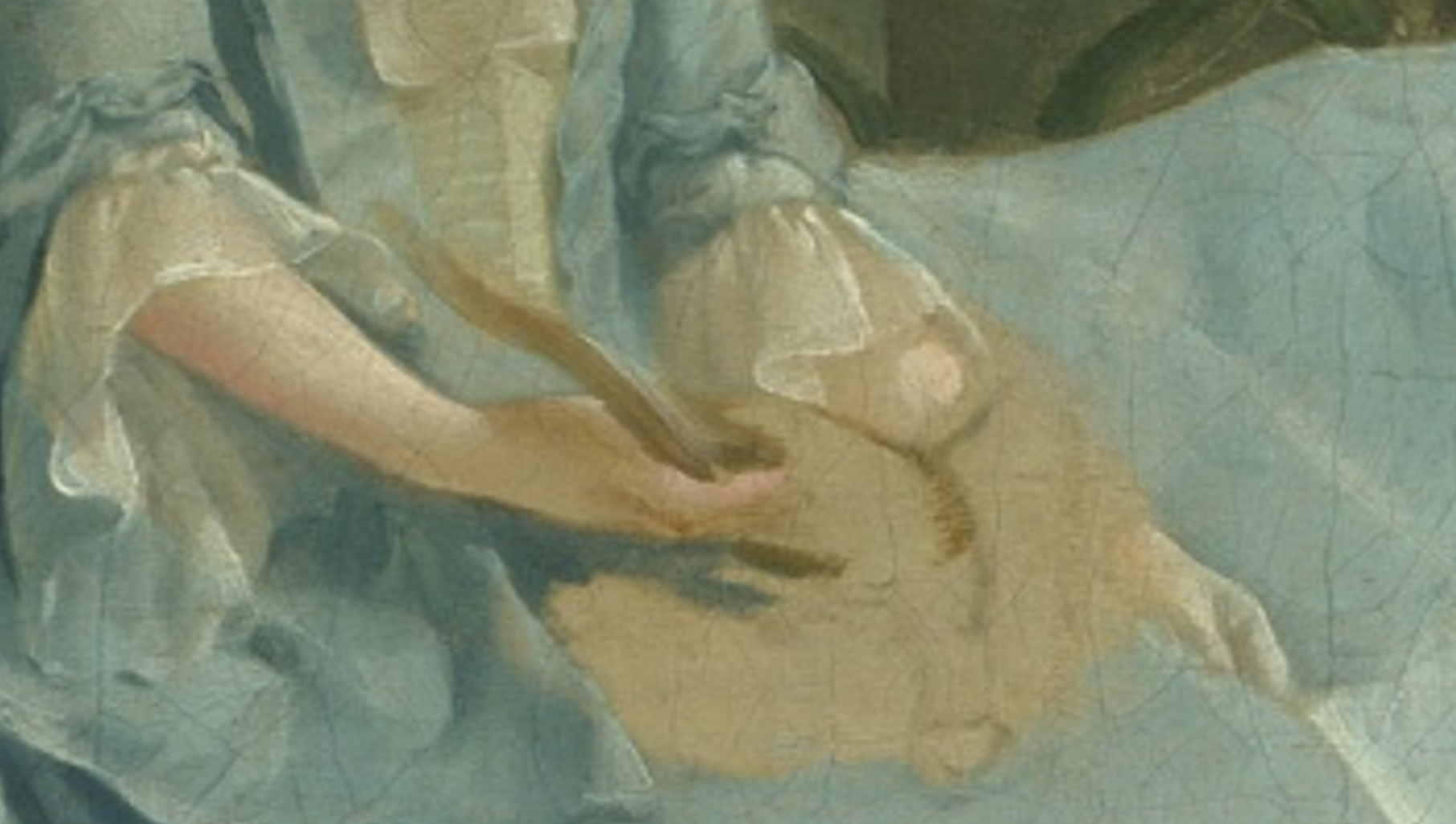 Detail of  Mr and Mrs Andrews , c. 1750, oil on canvas -- in The National Gallery, London