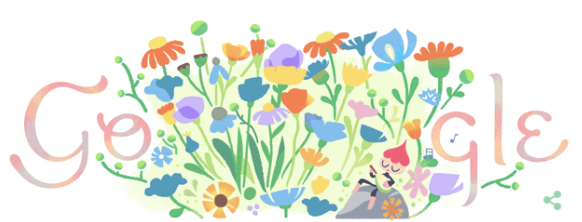 Today's lovely Spring Equinox Google doodle -- first view.