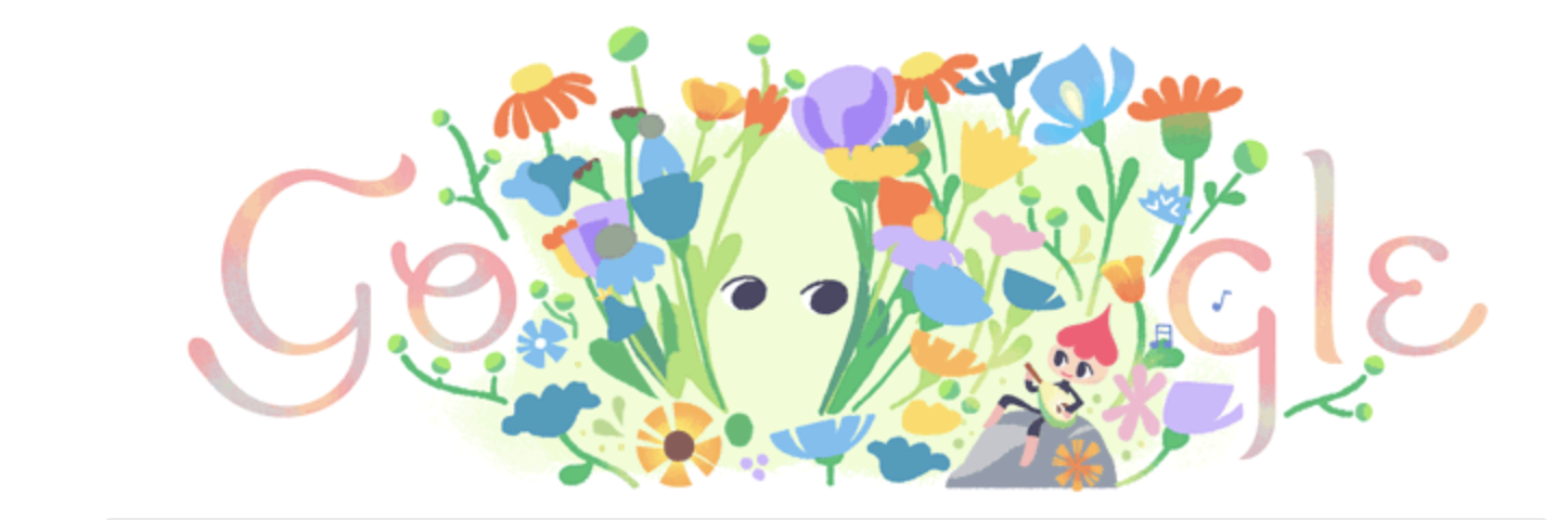 The second view, as the flowers part to reveal a pair of eyes.
