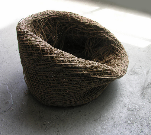 Spool Seat  made of Jute and organic fish glue.