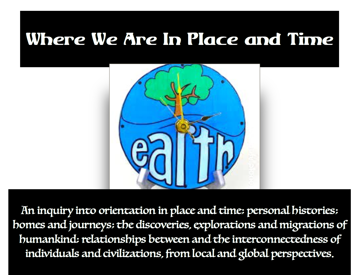 1st Grade Unit 2: Where We Are In Place and Time; December-January 2018