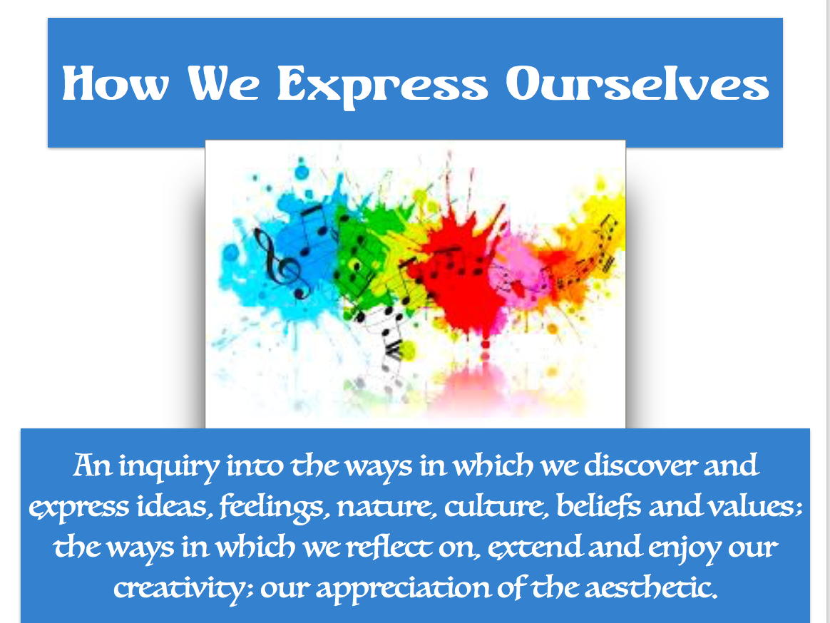 1st Grade Unit 4:  How We Express Ourselves; February-March 2018