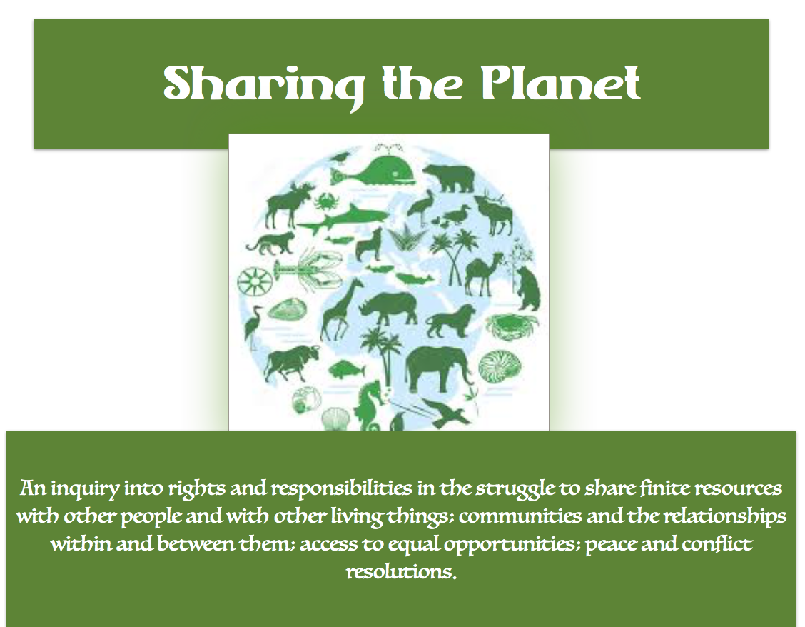 5th Grade Unit 6:  Sharing the Planet; May-June 2018