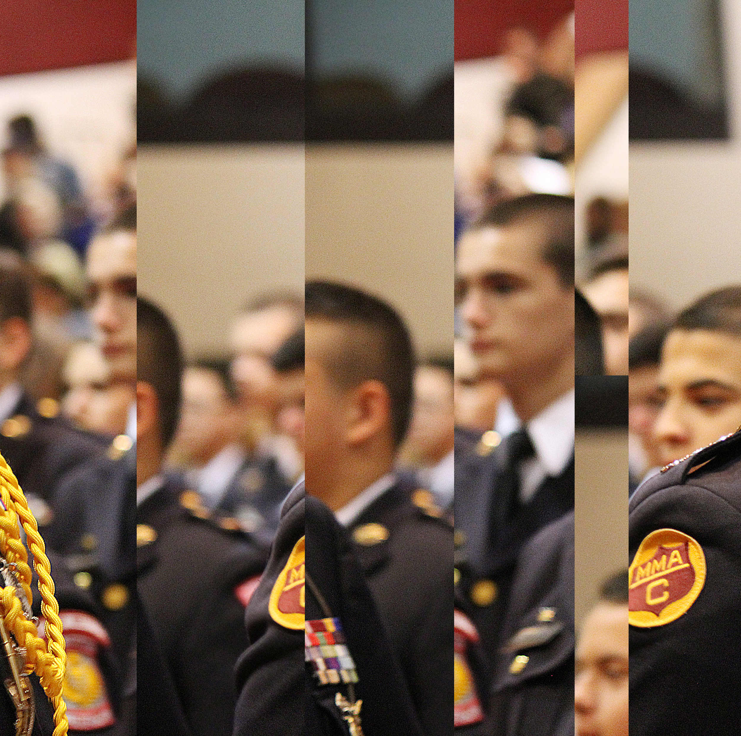*To respect the privacy of the cadet, I chopped this photo up to only highlight the audience behind. him