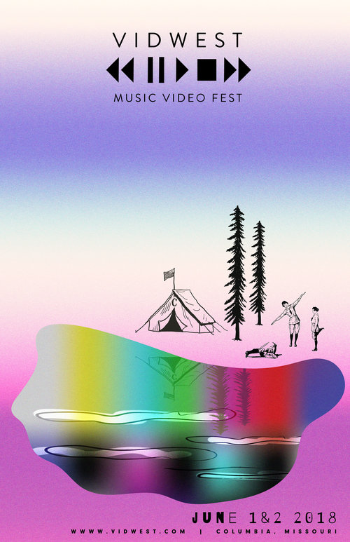 a surreal world for a music video film festival - visual identity & poster design for music video film festival