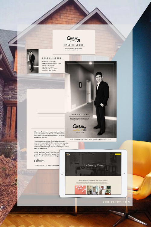 Cale Childers Realty - Style guide, website design, realty photography & headshots, collateral design