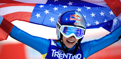 Sarah Hendrickson becomes second American ever to win gold at World Championships.