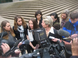 Court hearing in Vancouver in 2009.