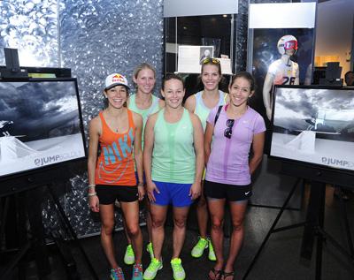 Sarah Hendrickson, Alissa Johnson, Lindsey Van, Abby Hughes and Jessica Jerome. Photo by Tom Kelly