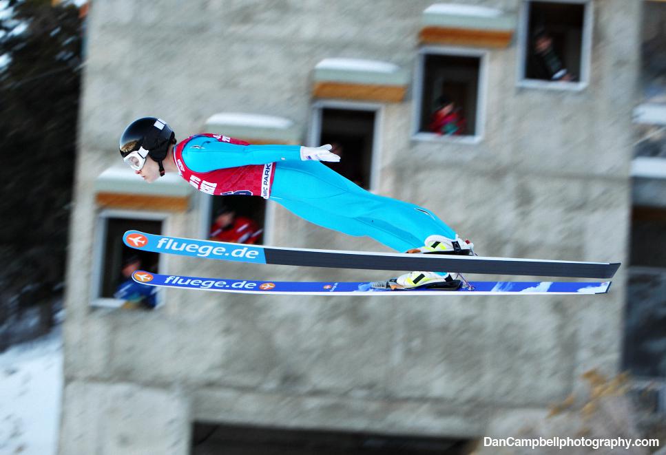 Lindsey Van in flight at the U.S. Olympic Team Trials.