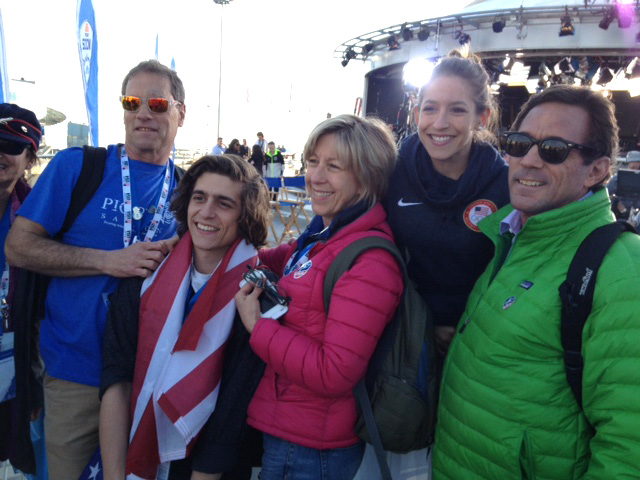 Jerome family and friends at the set of NBC's Today Show on Feb. 12.