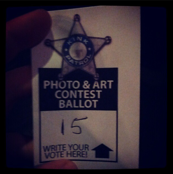 Ballot for voting.