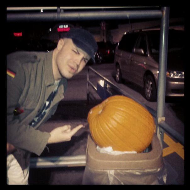 We found a random pumpkin in the trash at Walmart.