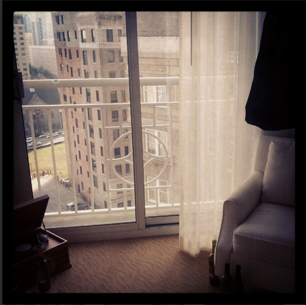 Hotel room set.