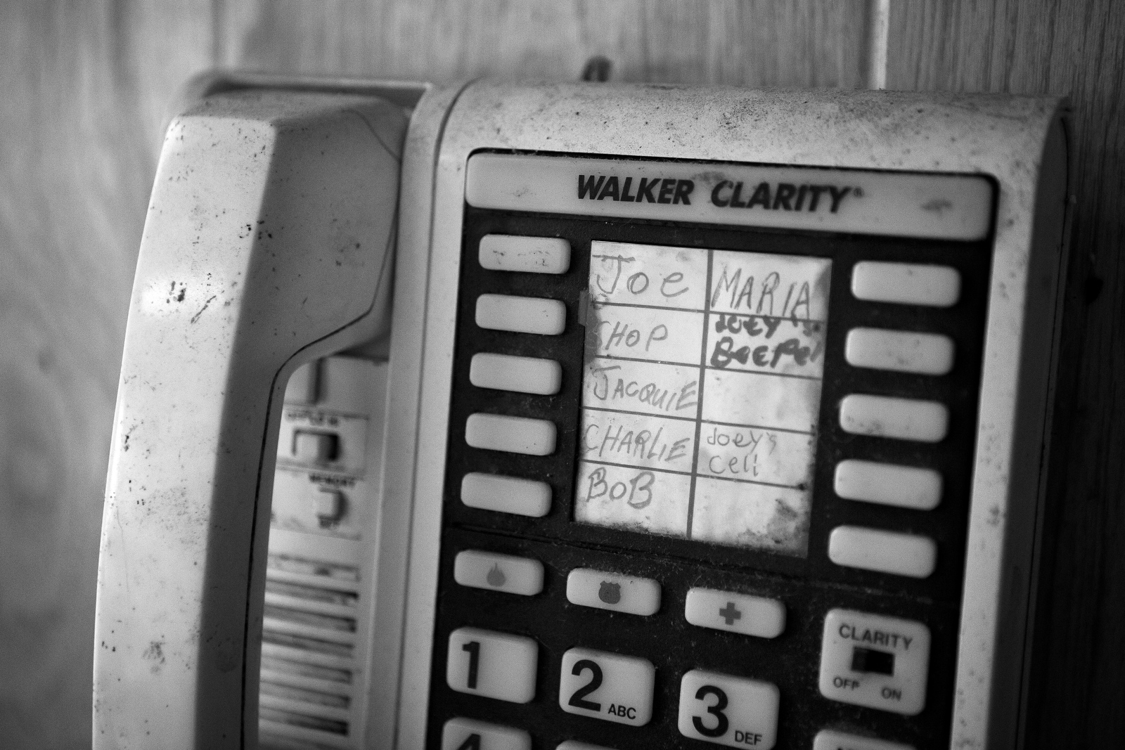Important names are noted on Charles Asaro's phone. At 98-years-old Charles has lost much of his eyesight but for the most part, he can still maneuver around the house he has lived in for over four decades.