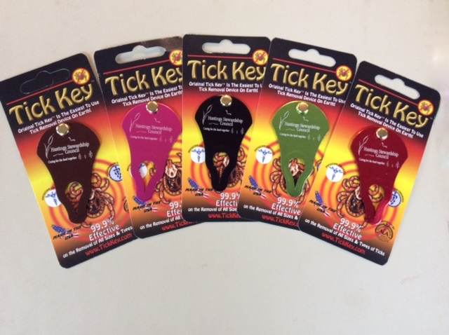 You can buy one of these very effective tick removal keys from Hastings Stewardship Council for a cost ot $10. This is a fund raising project for the council. Please contact Matt Caruana at info@hastingsstewardship.ca