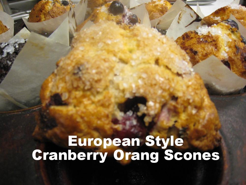 Cranberry Ornage Scones