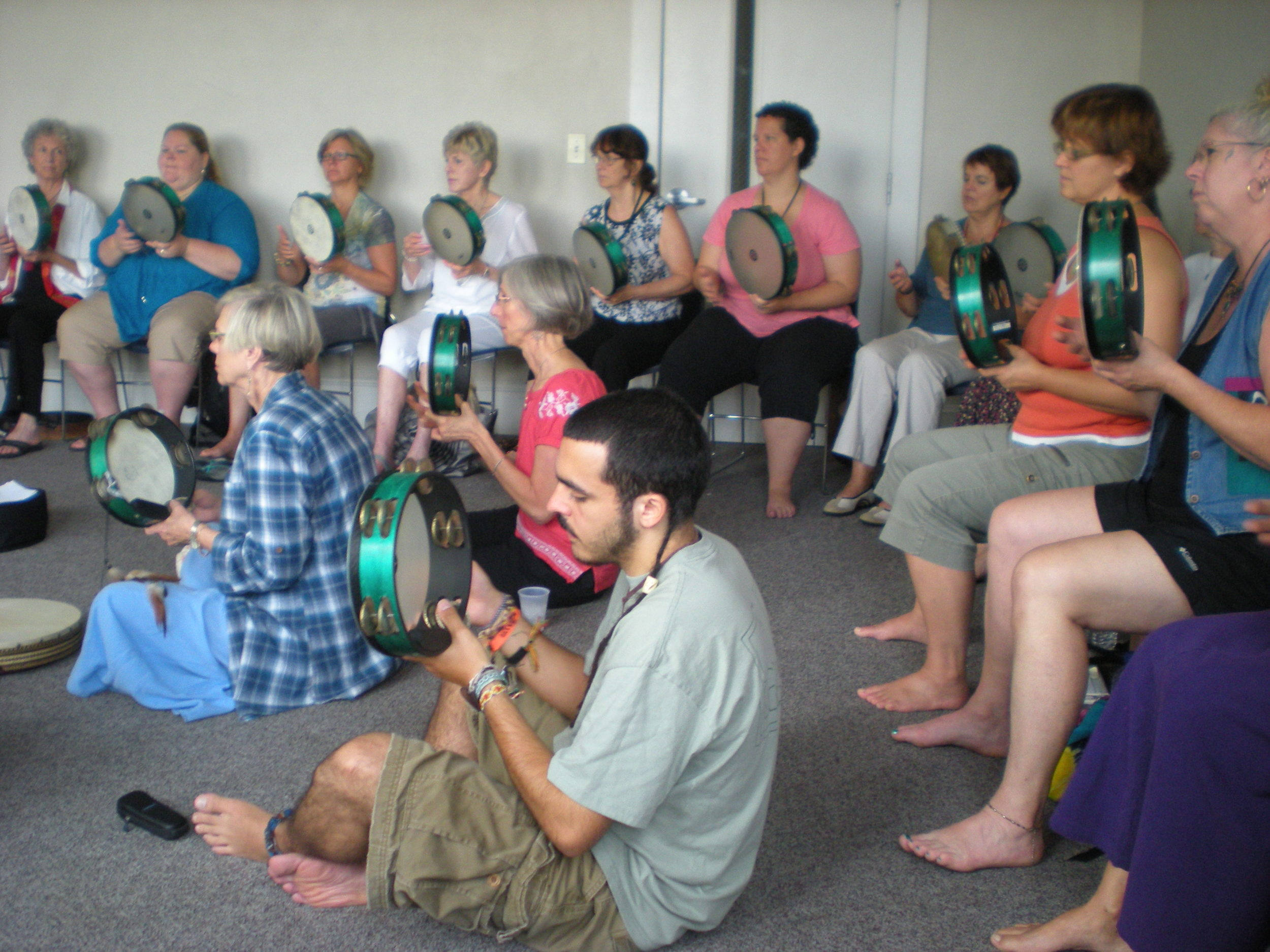 A tambourine workshop