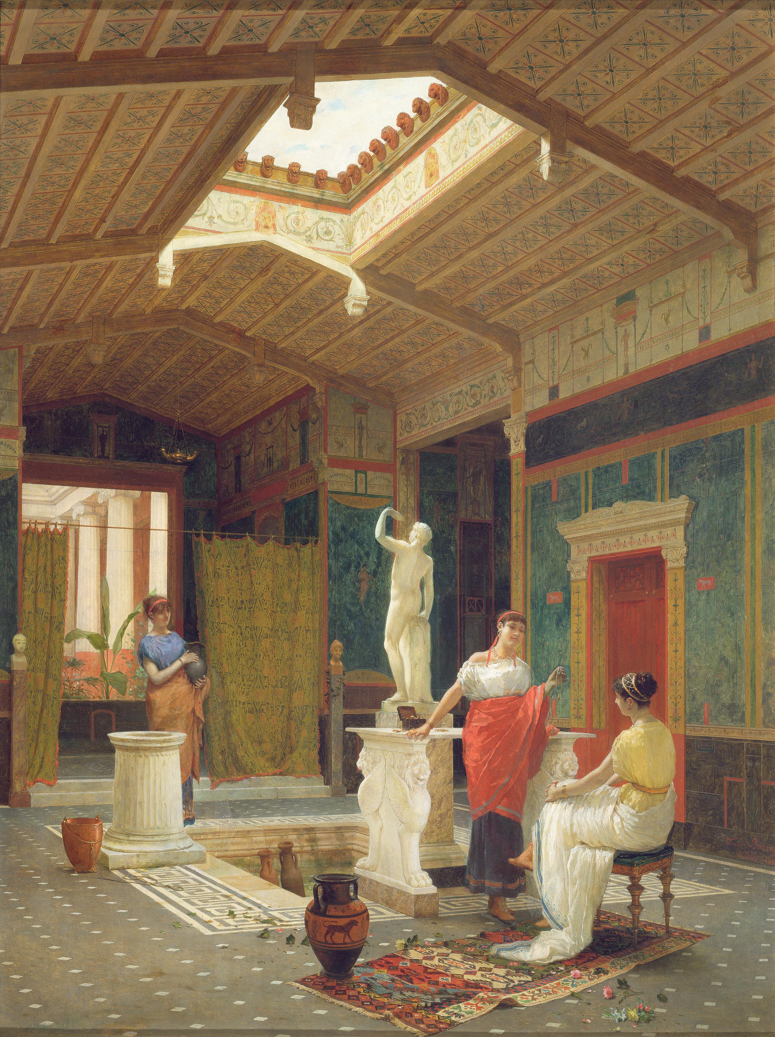 A Pompeian Interior by Luigi Bazzani. ©.Dahesh Museum of Art, 1996.24. Used with permission.