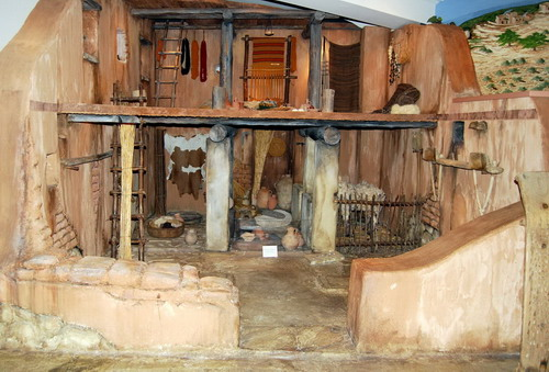 Model of an Iron Age house , The Semitic Museum at Harvard University (Copyright Permission sought)