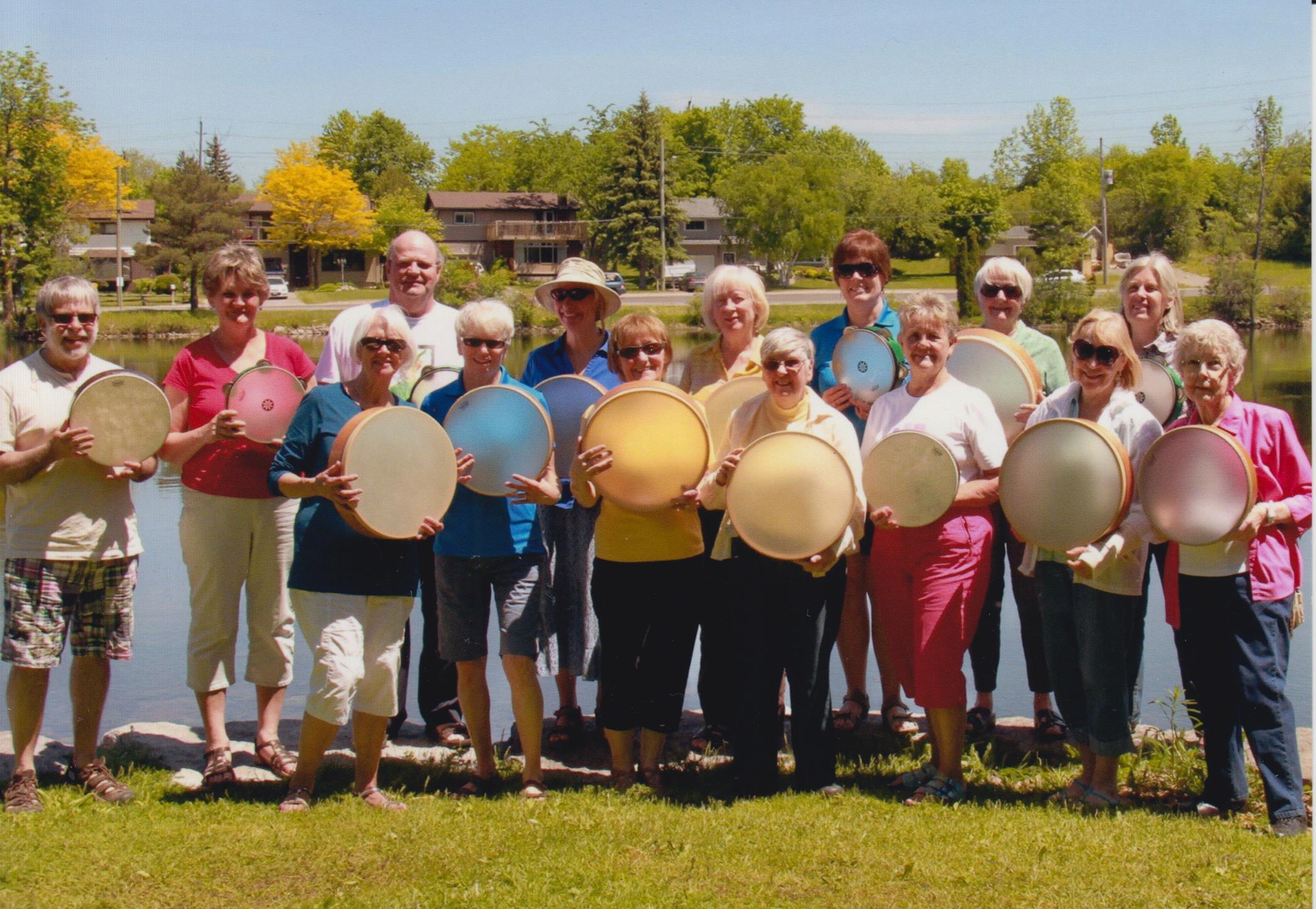 Summer picnic, Mark Street United Church drummers