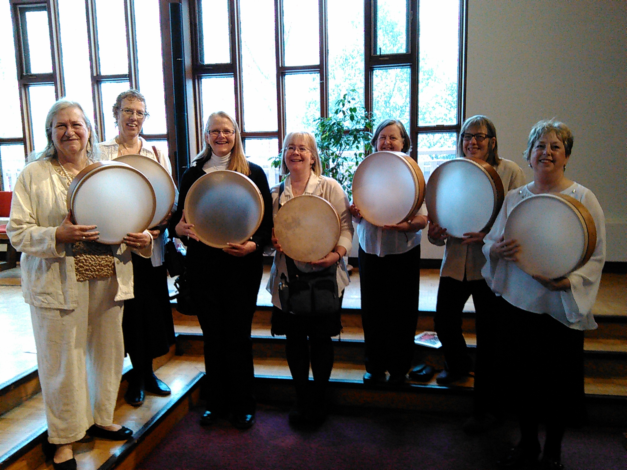 Ottawa Drummers ready for Judith (first on left)!