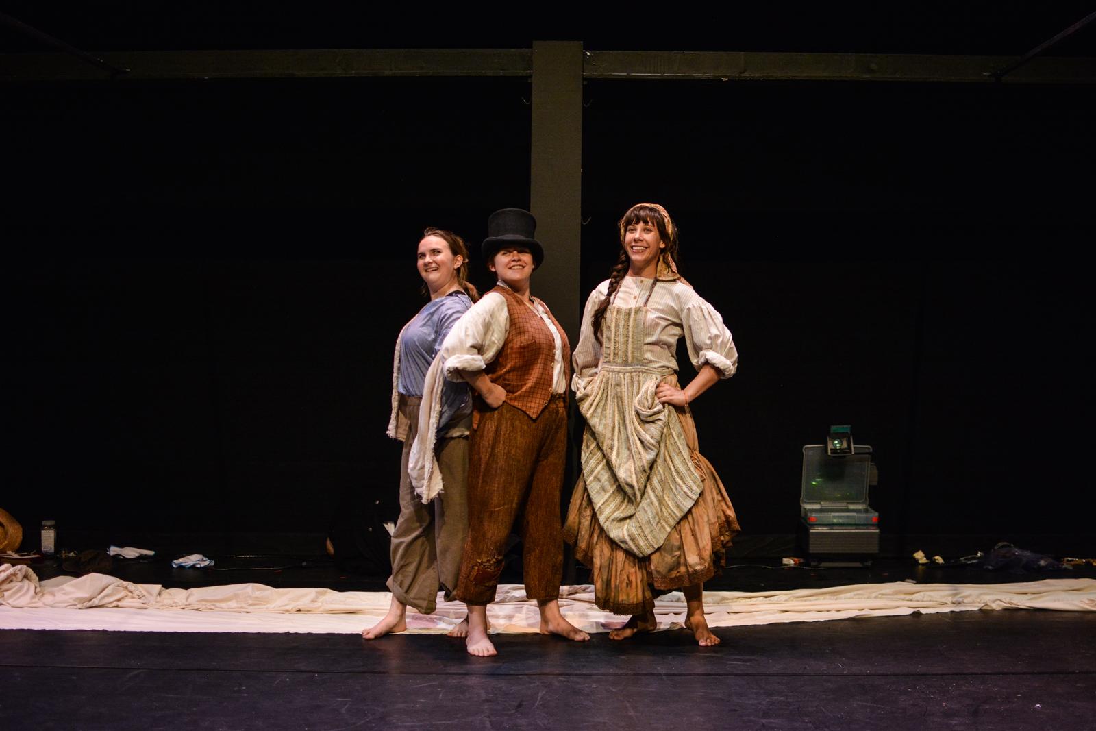 Kristina as Euphrasie with Sara Glancy and Amalia Oswald in Marvellous . Photo by Kelley Van Dilla.