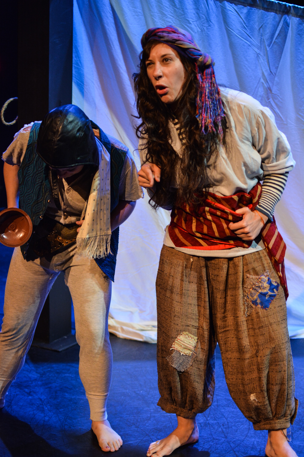 Kristina as pirate Scud Rowlock and Amalia Oswald as Poop Jones in  Marvellous.  Photo by Kelley Van Dilla.