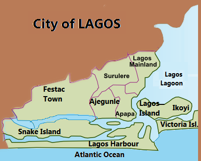 Lagos map, courtesy of Wikipedia