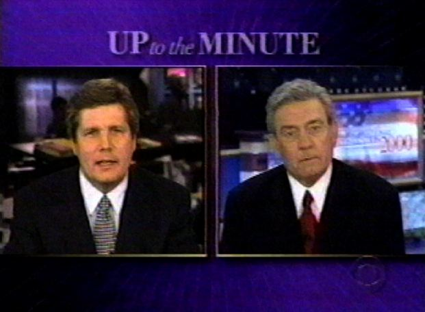 With Dan Rather on CBS, 2000.
